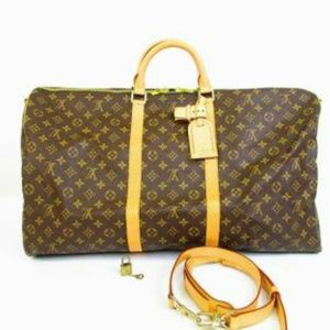 LOUIS VUITTON Keepall Bandouliere 60 Travel Bag x